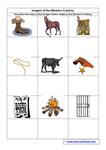 Images of the Western Cowboy Worksheet