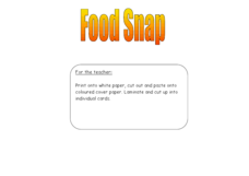 Food Snap Worksheet
