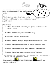 Spelling Cow Lesson Plan