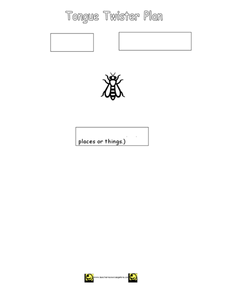 Tongue Twister Plan Worksheet