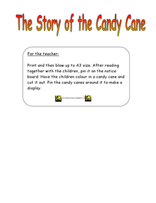 The Story of the Candy Cane Worksheet