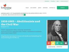 1856-1865: Abolitionists and the Civil War Lesson Plan