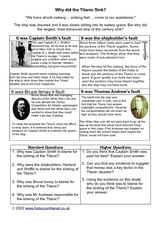 Why Did the Titanic Sink? Worksheet