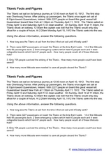 Titanic Facts and Figures Worksheet