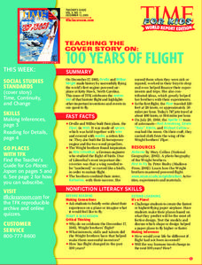 100 Years of Flight Lesson Plan