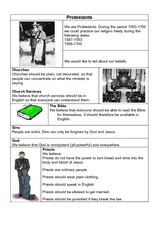 Protestants and Catholics Worksheet