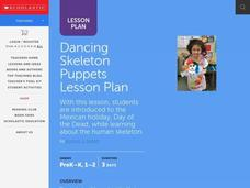 Dancing Skeleton Puppets Lesson Plan