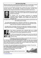 The End of the War Worksheet