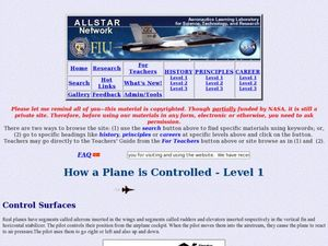 How a Plane is Controlled Lesson Plan