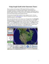 Using Google Earth in the Classroom Lesson Plan