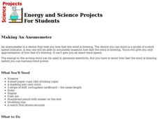 Making An Anemometer Lesson Plan