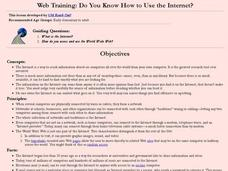 Web Training: Do You Know How to Use the Internet? Lesson Plan
