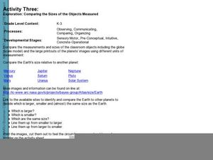 How does the Earth compare to the other planets? Lesson Plan