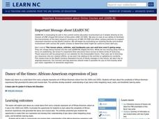 Dance of the Times: African-American Expression of Jazz Lesson Plan