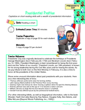 Presidential Profiles Lesson Plan