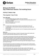 Bring on the World: Fair Working Hours Lesson Plan