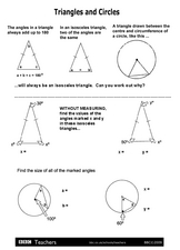Finding the Angle Measurements in Isosceles Triangles Worksheet