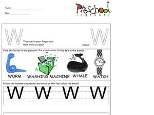 Capital Letter W Activity Worksheet