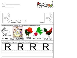 Capital Letter: R Worksheet