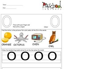 Capital Letters: O Worksheet