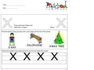 Capital Letters: X Worksheet