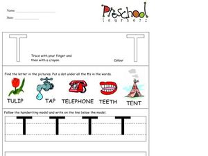 Capital Letters: T Worksheet