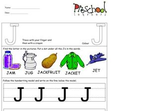 Capital Letters: J Worksheet