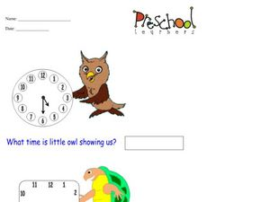 Reading Clocks Worksheet
