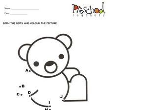 Dot to Dot Teddy Bear Worksheet