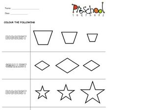 Biggest and Smallest Shapes Worksheet