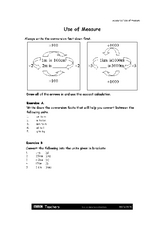 Measurement Conversion using a diagram Worksheet