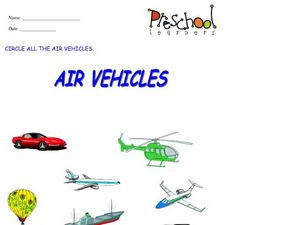 Air Vehicles Worksheet