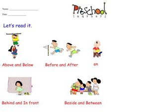 Preposition Pictures Worksheet