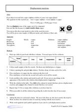 Displacement Reactions Worksheet