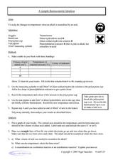A Simple Thermoetric Titration Worksheet