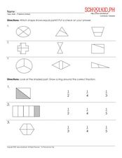 Fractions (Unitary) Worksheet