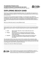 Exploring Beach Sand Lesson Plan