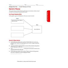 Darwin's Theory Worksheet