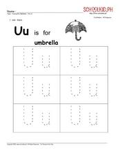 Letters U-z Worksheet