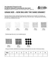 Grain Size-How Big Are the Sand Grains? Lesson Plan