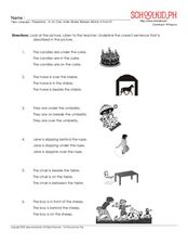 Preposition Recognition Worksheet