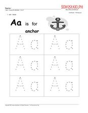 Tracing the Alphabet – A to E Worksheet