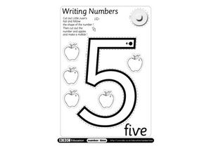 Writing Numbers - 5 Worksheet