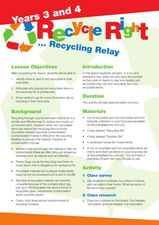Recycle Right... Recycling Relay Lesson Plan