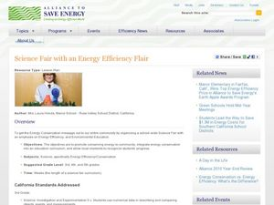 Science Fair With An Energy Efficiency Flair Lesson Plan