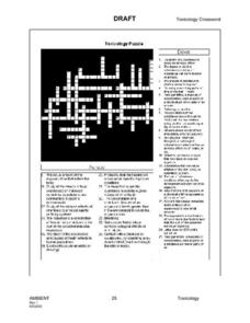 Toxicology Puzzle Worksheet