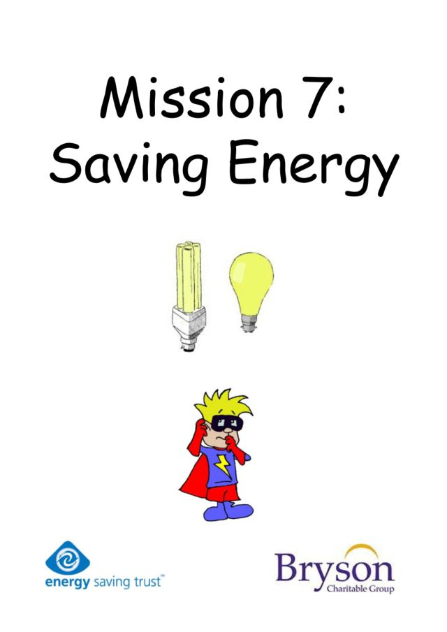 Mission 7: Saving Energy Worksheet for 5th - 6th Grade ...