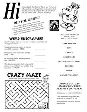 Recycling Rapping Worksheet