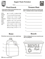 Rappin' Plastic Worksheet Lesson Plan