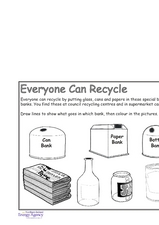 Everyone Can Recycle Worksheet